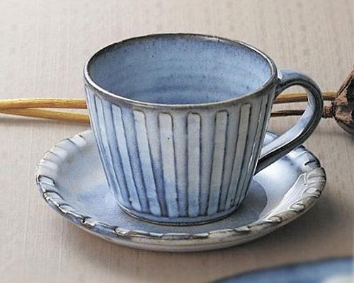萩焼 碗皿 孝彩窯 青釉
