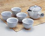 萩焼 茶器揃 天龍窯 白萩番茶器揃 木箱入