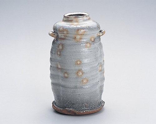 萩焼 花瓶 天龍窯 御本手花入 木箱入