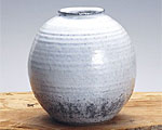 萩焼 花瓶 天龍窯 白萩壷 木箱入