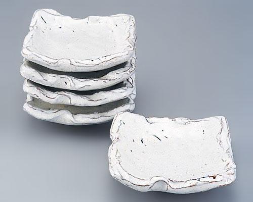 萩焼 皿揃 天龍窯 白萩銘々皿揃 木箱入