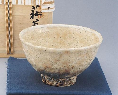 萩焼 抹茶碗 天龍窯 御本手井戸形茶碗 木箱入