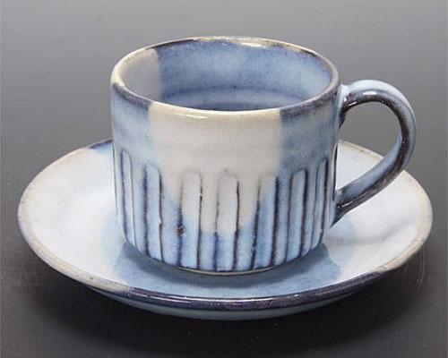 萩焼 碗皿 青萩釉碗皿