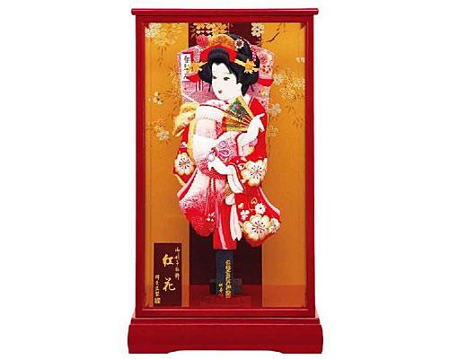 羽子板 ケース飾り 紅花 15号 桜華