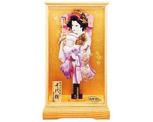 羽子板 ケース飾り 千代桜 15号 紫彩
