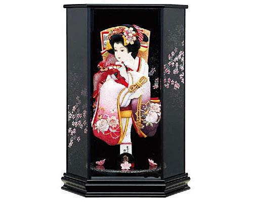 羽子板 ケース飾り 泉 15号 京の舞