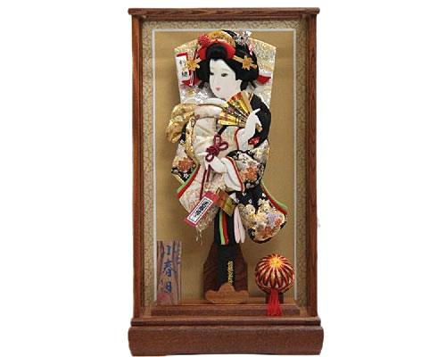 羽子板 ケース飾り 小春日 15号 金駒正絹刺繍