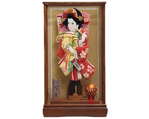 羽子板 ケース飾り 小春日 15号 さがの絞り桜