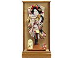 羽子板 ケース飾り 新琴音ワイン 15号 金駒正絹刺繍