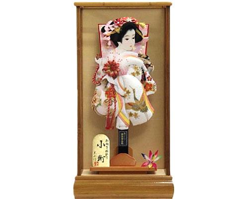 羽子板 ケース飾り 小町 15号 華麗金彩刺繍 鶴柄