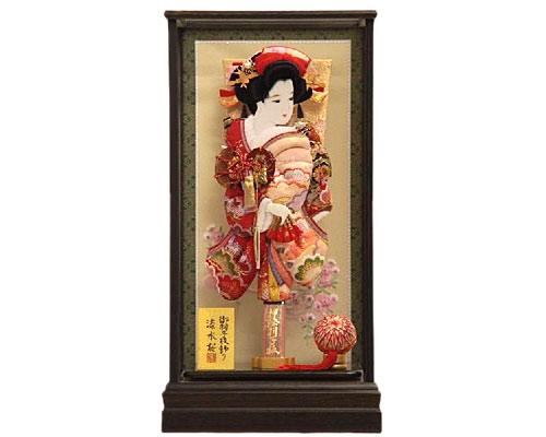 羽子板 ケース飾り 流水桜神代 15号 花小町振袖 浅妻