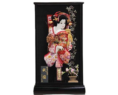 羽子板 ケース飾り 祇園 15号 あやか 浅妻