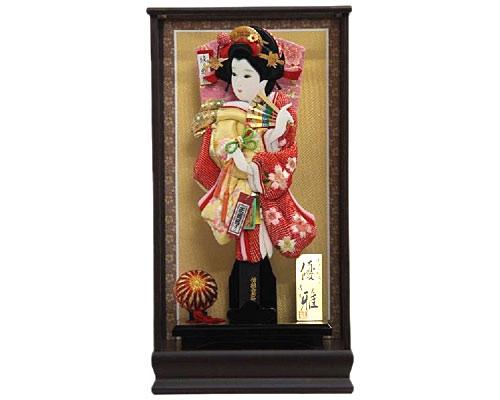 羽子板 ケース飾り 鉄刀木優雅 15号 さがの絞り桜