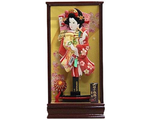 羽子板 ケース飾り 新琴音ワイン 15号 さがの絞り桜