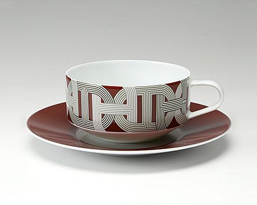 エルメス ラリー 24 ティーカップ&ソーサー 150ml レッド