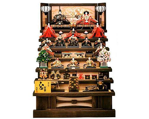 ひな人形 七段飾り 十五人揃い木製七段飾り