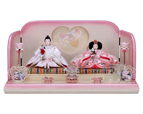ひな人形 親王飾り 平飾り 節句人形 恵美作 ももか雛