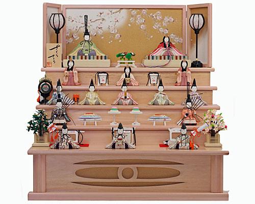 ひな人形 木目込み 五段飾り 一秀作 さくらさくら