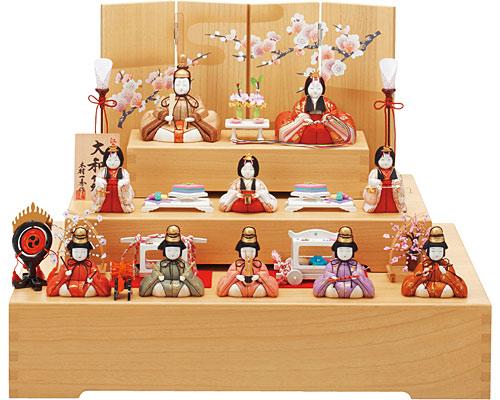 ひな人形 一秀 三段飾り 木目込み 大和雛