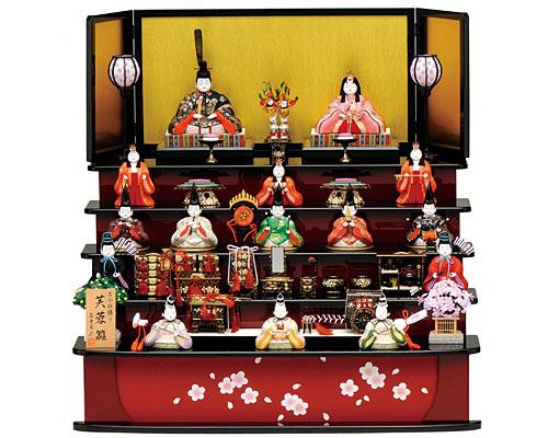 ひな人形 真多呂作 五段飾り 木目込み 芙蓉雛15人揃