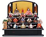 ひな人形 真多呂 三段飾り 木目込み 本金 皇紀雛15人揃