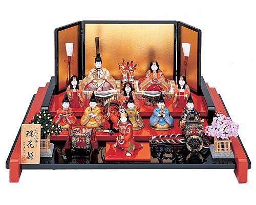 ひな人形 真多呂 三段飾り 木目込み 瑞花雛11人揃