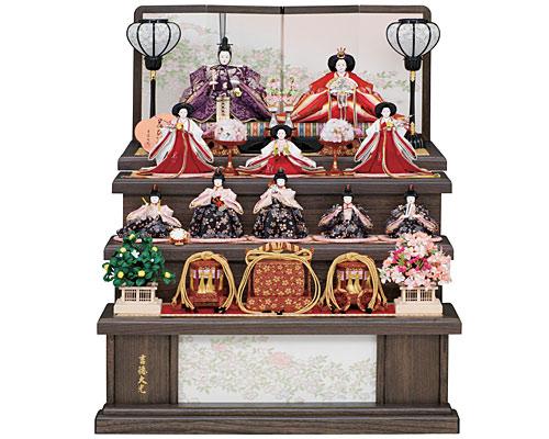 ひな人形 吉徳大光 三段飾り 花ひいな 小十番親王