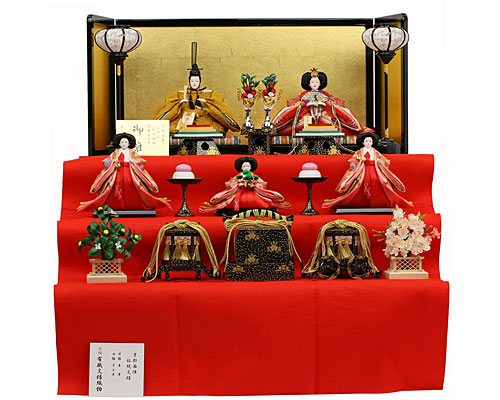 ひな人形 吉徳大光 三段飾り 五人揃 京都西陣