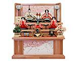 ひな人形 吉徳大光 三段飾り 五人揃 京都西陣金襴織物