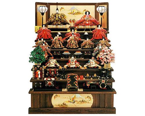 ひな人形 七段飾り 十五人飾り 平安豊久作 大輪