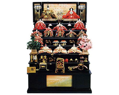 ひな人形 七段飾り 十五人飾り 平安豊久作 彩麗