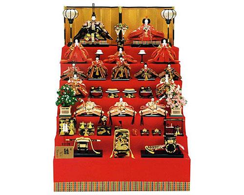 ひな人形 七段飾り 十五人飾り 平安豊久作 高雅