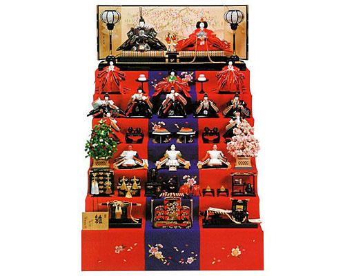 ひな人形 七段飾り 十五人飾り 平安豊久作 京極