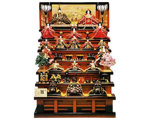 ひな人形 七段飾り 十五人飾り 平安豊久作 梅寿
