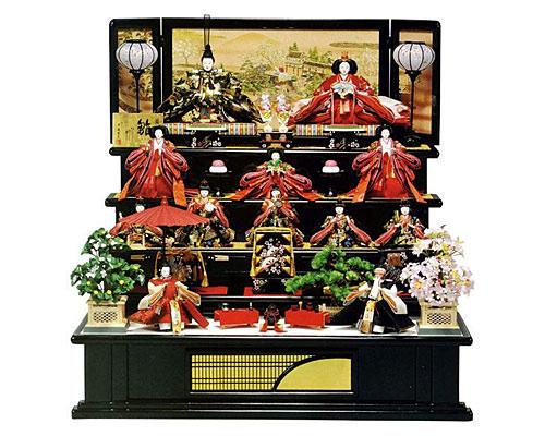 ひな人形 五段飾り 十二人飾り 平安豊久作 御所