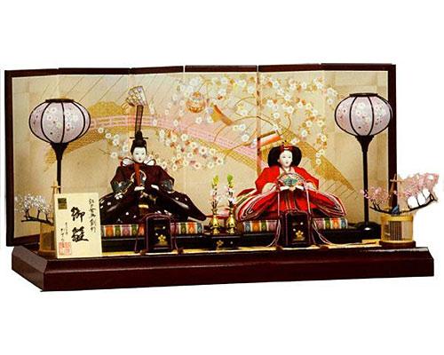 ひな人形 親王飾り 平飾り 節句人形 かずひこ作 なのは