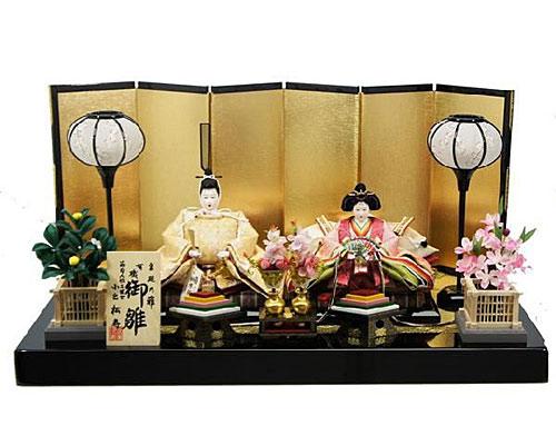 ひな人形 親王飾り 平飾り 小出松寿 SH272六曲