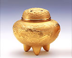 純金製 香炉 龍 3号