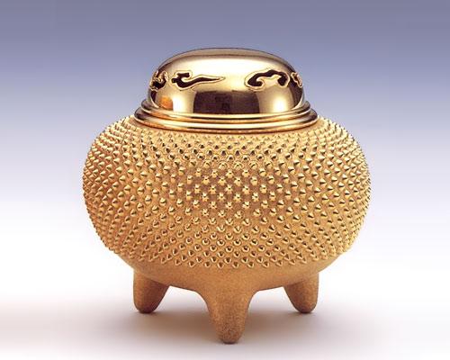 純金製 香炉 霰 3号
