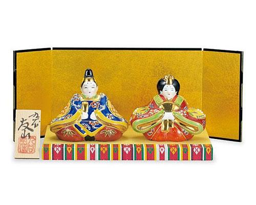 九谷焼 ひな人形 3号雛人形 盛