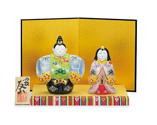 九谷焼 ひな人形 4号立雛 盛