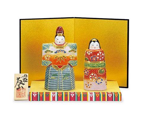 九谷焼 ひな人形 5号立雛 盛