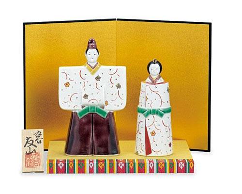 九谷焼 ひな人形 5.5号立雛 花唐草