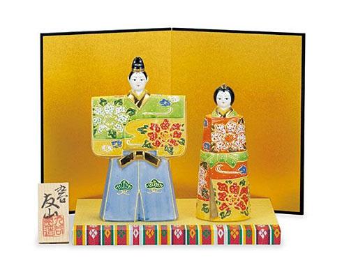 九谷焼 ひな人形 5.5号立雛 盛