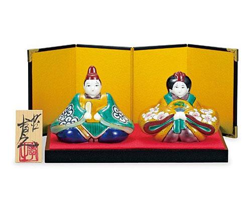 九谷焼 ひな人形 3号雛人形 青九谷