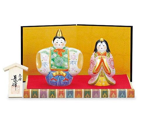 九谷焼 ひな人形 4号福雛 白盛