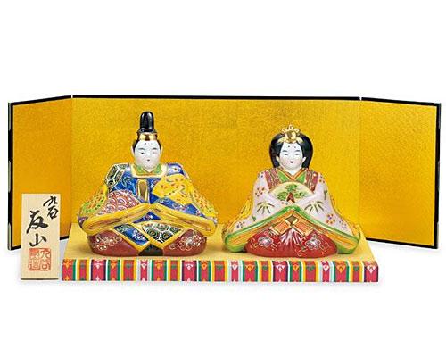 九谷焼 ひな人形 5号雛人形 盛