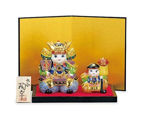 九谷焼 五月人形 4.5号武者人形 盛