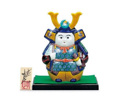 九谷焼 五月人形 6号武者人形 色絵九谷 糠川孝之