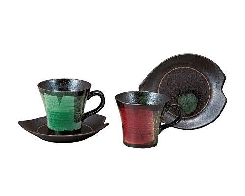 九谷焼 ペアコーヒー 銀彩
